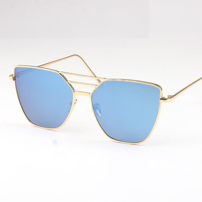 Metallic Square Sunglasses