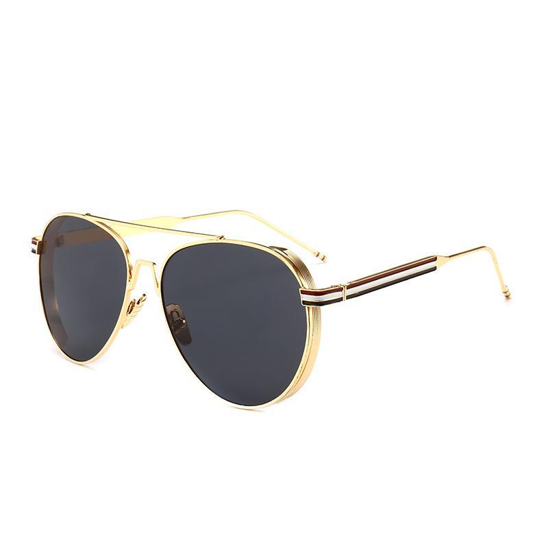 Thick Edge Frame Retro Sunglasses