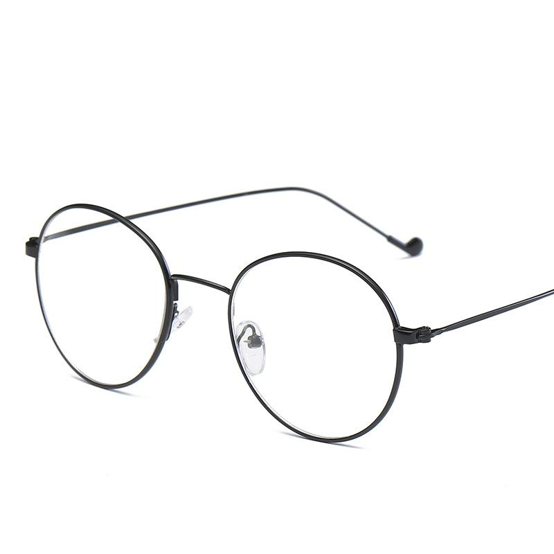 Metal Frame Flat Round Sunglasses