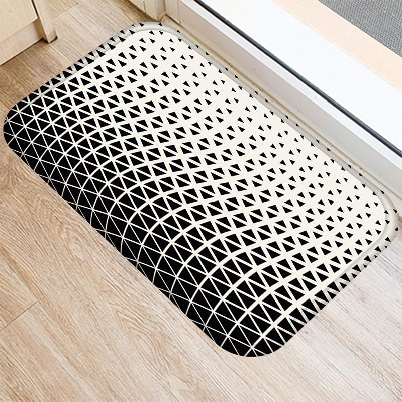 Black and White Multi Designed Mat
