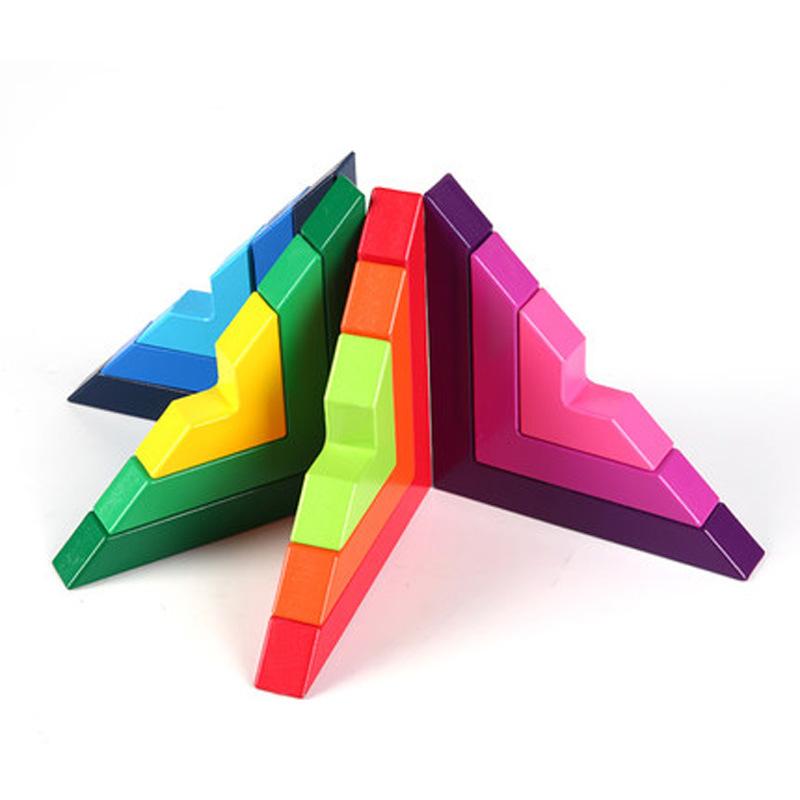 L-Shaped Colorful Building Blocks