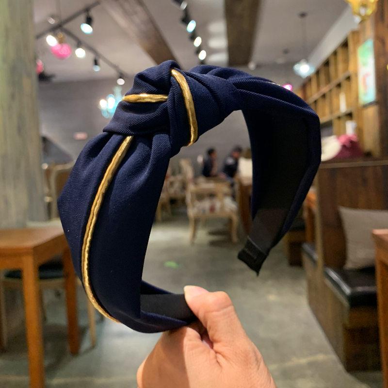 Retro Golden Line Knotted Headband