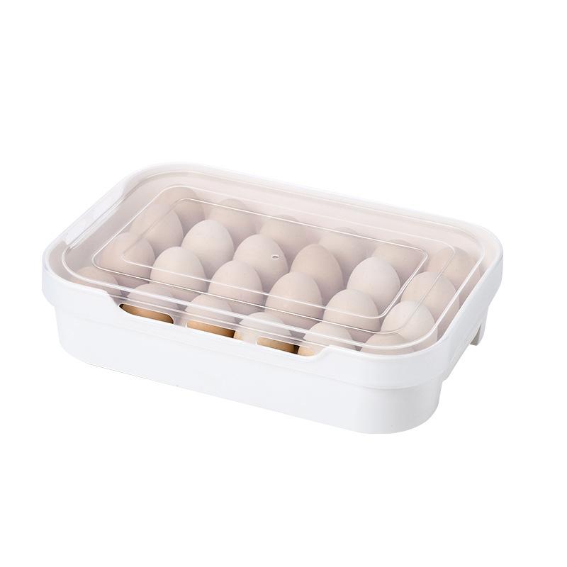 White Rectangular Storage Boxes for Saving Kitchen Space