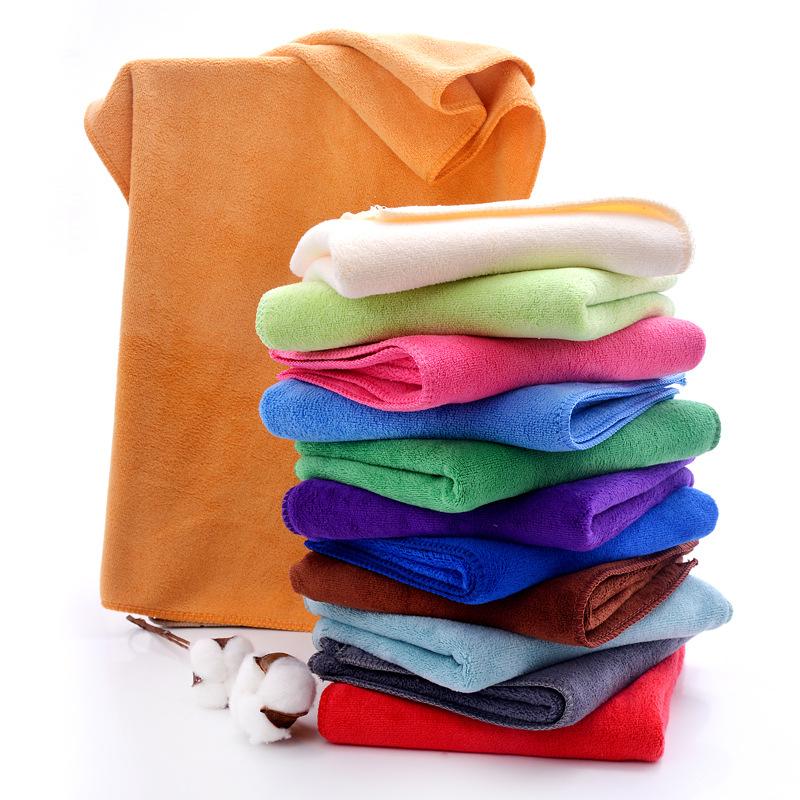 Colored Superfine Fiber Hair Towel for Night Baths