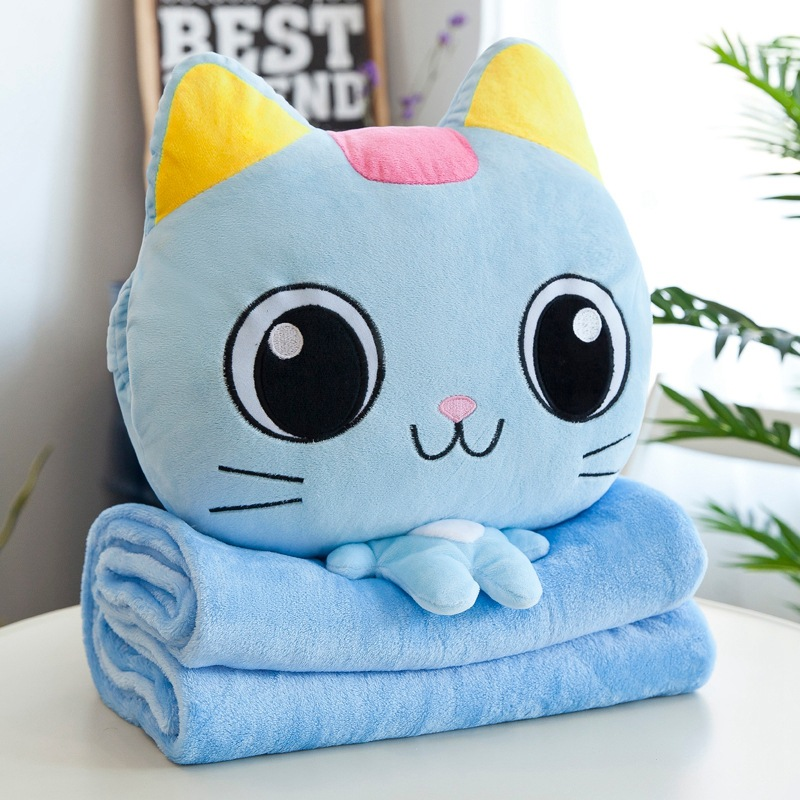 Plush Animal Pillow with Fluffy Blanket for Kids at Heart