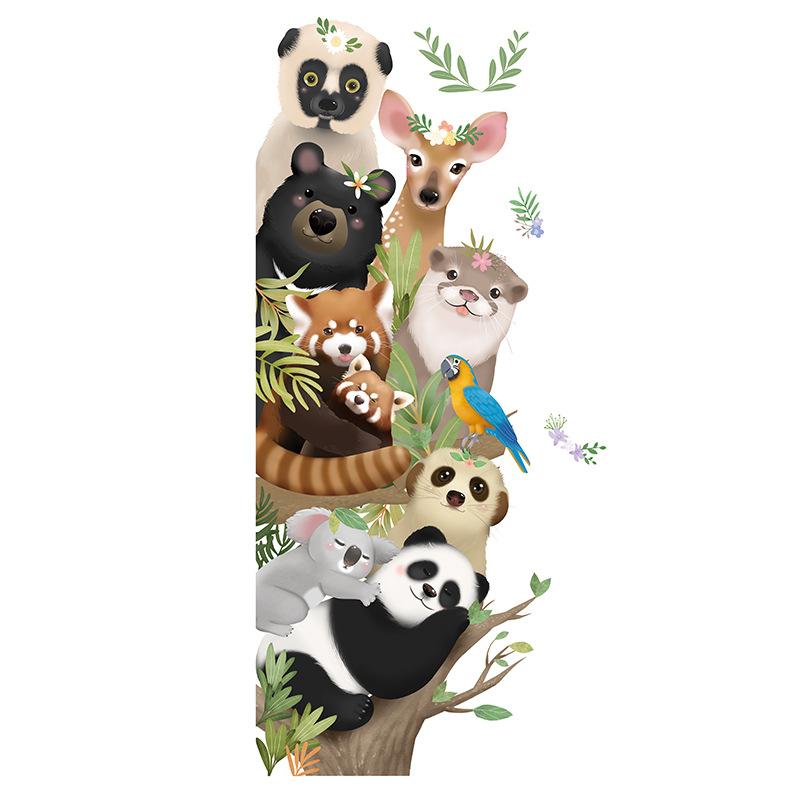 Adorable Animals Peeking Wall Sticker for Bathroom