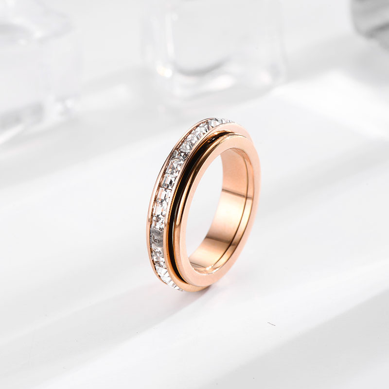 Elegant Titanium Steel Ring Designed with Faux Diamond for Any Occasion