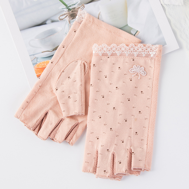 Awesome Small Flower Print Gloves for Casual Wear