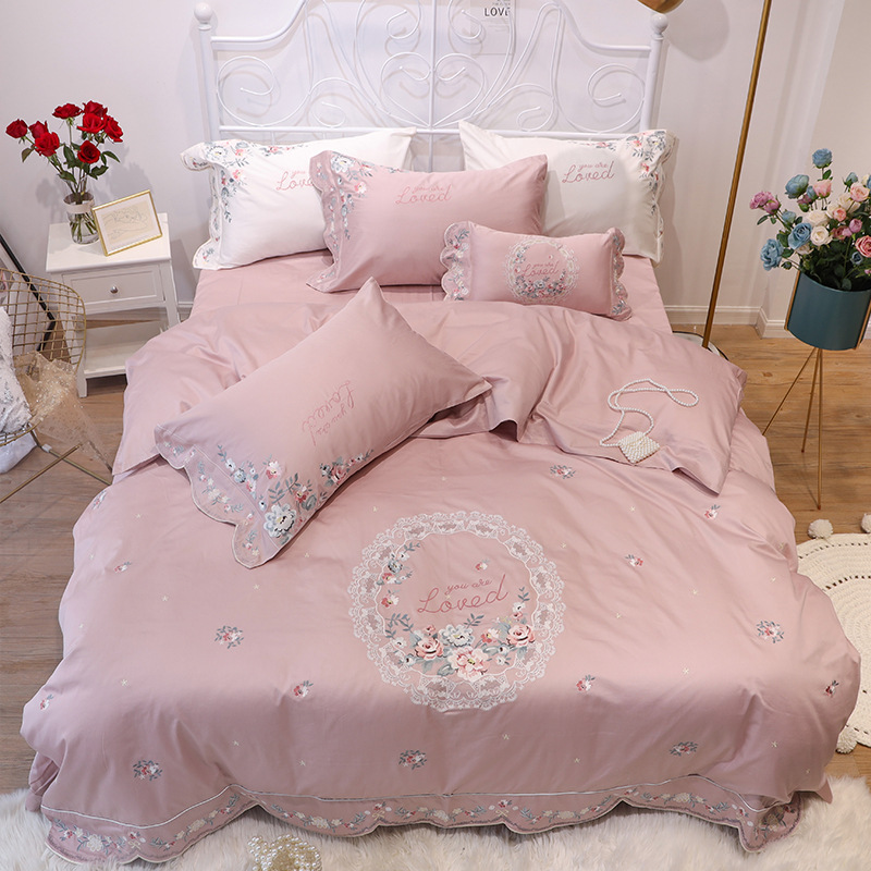 You Are Loved Floral Embroidered Bedding Sets