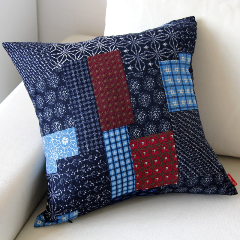 Jazzy Patchwork Pillowcase for Living Room