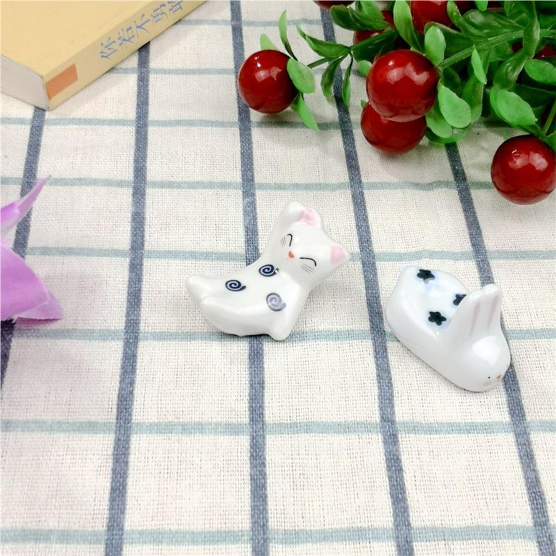 Cute Rabbit and Cat Chopstick Rest for Japanese Restaurants