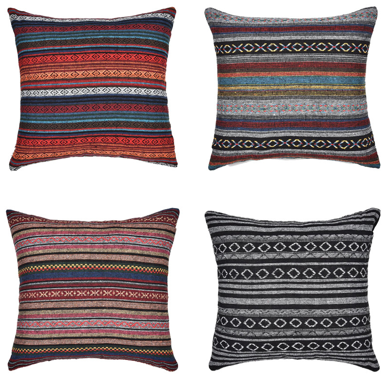 Woven Pattern Square Pillow for Common Room