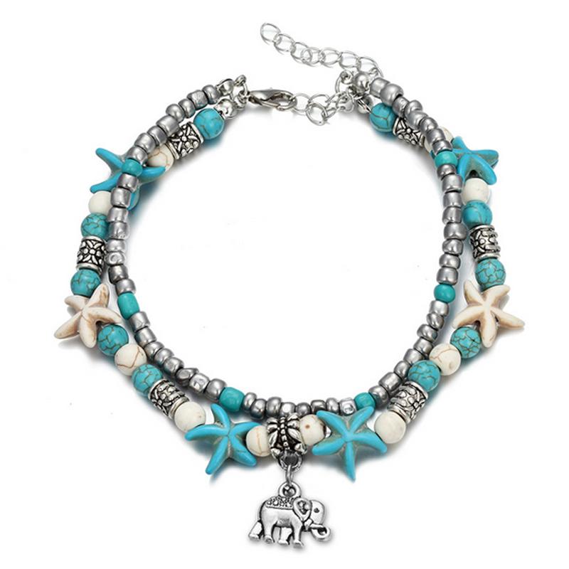 Beaded Beach Charm Bracelet