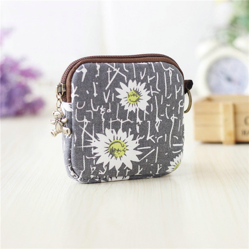 Cotton Canvas Print Purse