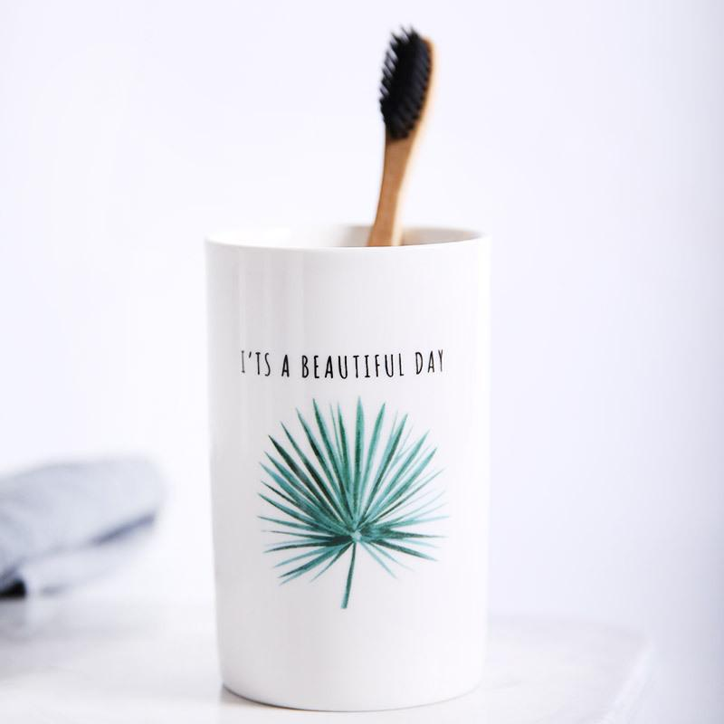 Life is Beautiful Toothbrush Cup