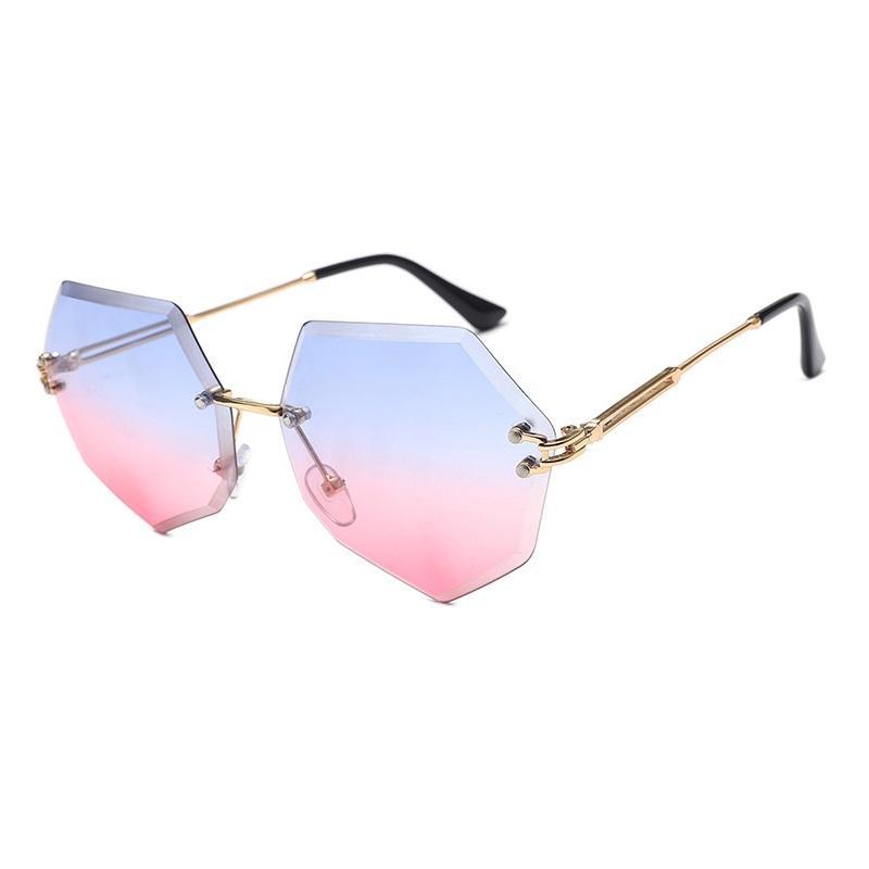 Frameless Trimmed Sunglasses