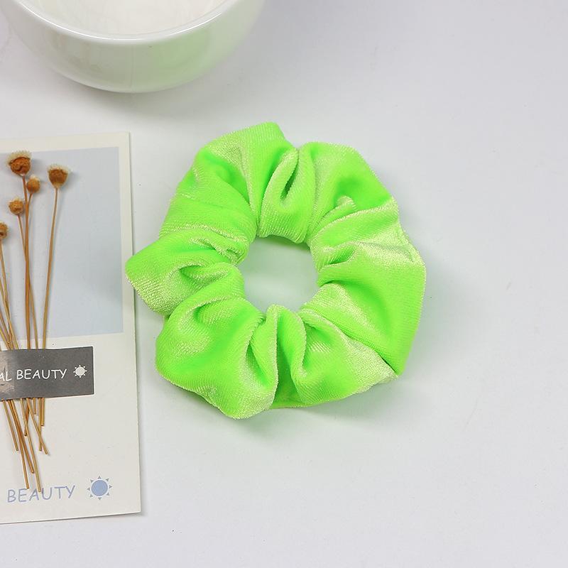 Fluorescent Flannel Hair Scrunchie