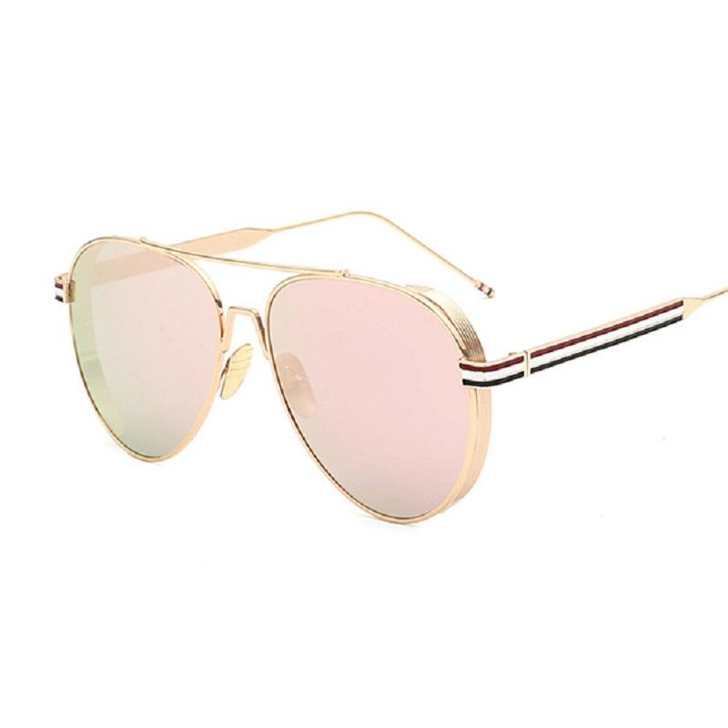Thick Edge Frame Retro Sunglasses