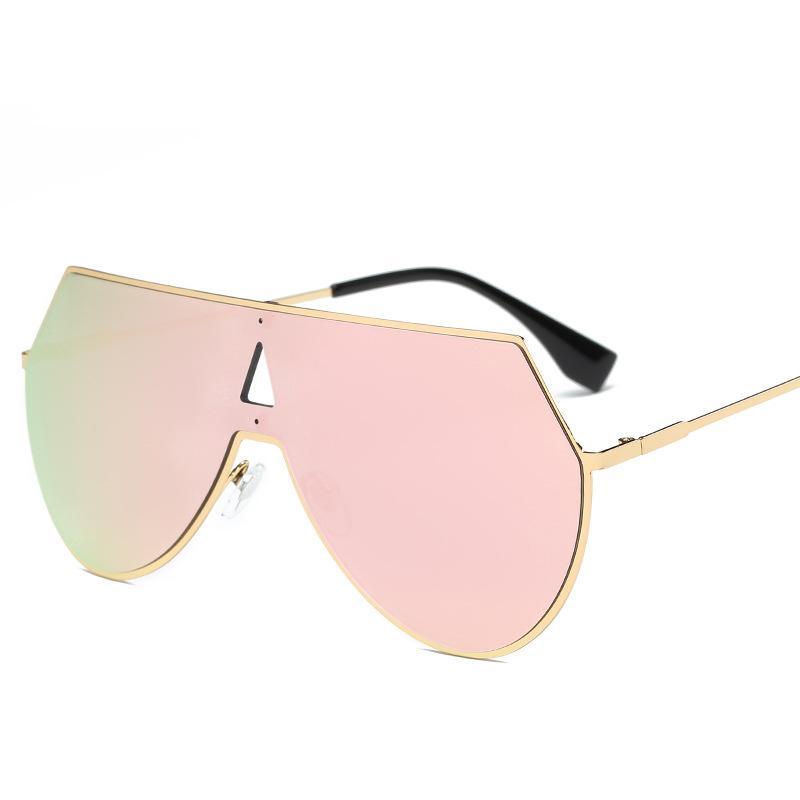 Metal Rimmed Shield Sunglasses