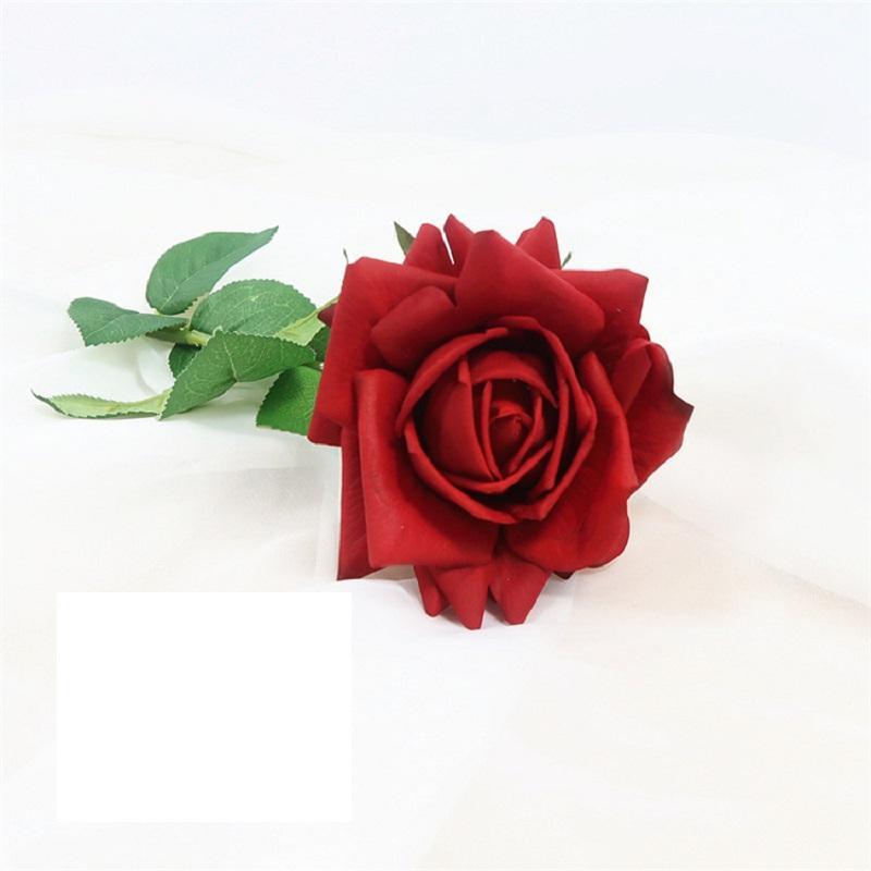 Silk Frilled Rose Decor
